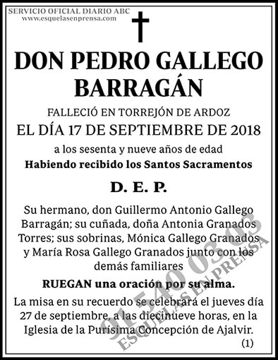Pedro Gallego Barragán